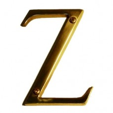 "Traditional 4"" Letter Z House Number (I07-L91Z0) in Various Finishes by Brass Accents"