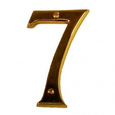 "Traditional 4"" Brass #7 House Number (I07-N5370) in Various Finishes by Brass Accents"