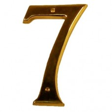 "Traditional 6"" Brass #7 House Number (I07-N5570) in Various Finishes by Brass Accents"