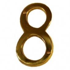 "Traditional 6"" Brass #8 House Number (I07-N5580) in Various Finishes by Brass Accents"