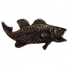 Bass Right Facing Cabinet Knob (KB00003 / 3) - Fish Collection from Buck Snort Lodge
