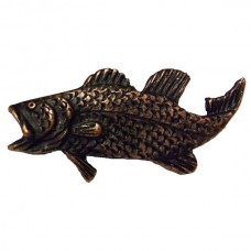 Bass Left Facing Cabinet Knob (KB00004 / 4) - Fish Collection from Buck Snort Lodge