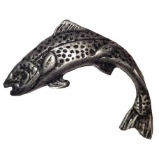 Jumping Trout Left Facing Cabinet Knob (KB00121 / 121) - Fish Collection from Buck Snort Lodge