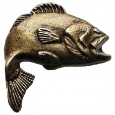 Big Bass 2 Cabinet Knob (KB00151 / 151) - Fish Collection from Buck Snort Lodge