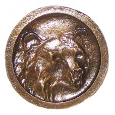 Bear Round Cabinet Knob (KB00172 / 172) - Wildlife Collection from Buck Snort Lodge