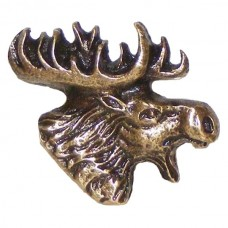 Mr. Moose head Right Facing Cabinet Knob (KB00196 / 196) - Wildlife Collection from Buck Snort Lodge