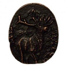 Elk Round Cabinet Knob (224) - Wildlife Collection from Buck Snort Lodge