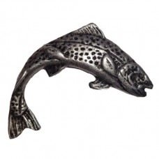 Jumping Trout Right Facing Cabinet Knob (KB00270 / 270) - Fish Collection from Buck Snort Lodge