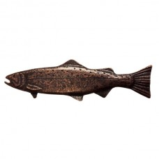Long Trout Left Facing Drawer Pull (PL00320 / 320) - Fish Collection from Buck Snort Lodge