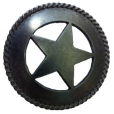 Large Star with Rope Drawer Pull (PL00783 / 361) - New Arrivals Collection from Buck Snort Lodge