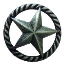 3-D Star with Narrow Rope Cabinet Knob (364) - New Arrivals Collection from Buck Snort Lodge