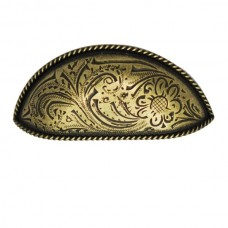 Engraved Flower Cup Pull Cup Pull (PL02372 / 393) - New Arrivals Collection from Buck Snort Lodge