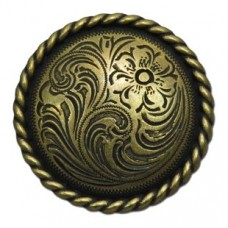 Engraved Flower Knob Cabinet Knob (KB20413 / 394) - New Arrivals Collection from Buck Snort Lodge