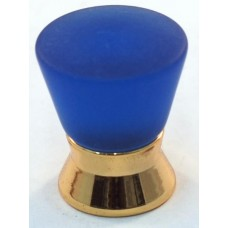 Matte Blue Cone Cabinet Knob (25mm) (102-CM003) by Cal Crystal