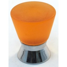 Matte Amber Cone Cabinet Knob (25mm) (102-CM011) by Cal Crystal