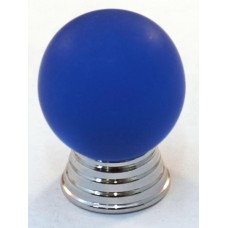 Matte Blue Ball Cabinet Knob (25mm) (106-CM003) by Cal Crystal