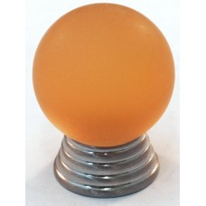 Matte Amber Ball Cabinet Knob (25mm) (106-CM011) by Cal Crystal