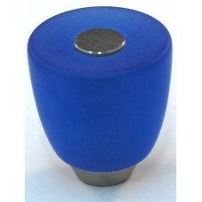 Matte Blue Urn Cabinet Knob (29mm) (108-CM003) by Cal Crystal
