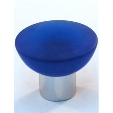 Matte Blue Bowl Cabinet Knob (33mm) (113-CM003) by Cal Crystal