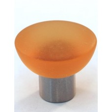 Matte Amber Bowl Cabinet Knob (33mm) (113-CM011) by Cal Crystal