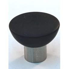 Matte Black Bowl Cabinet Knob (33mm) (113-M034) by Cal Crystal