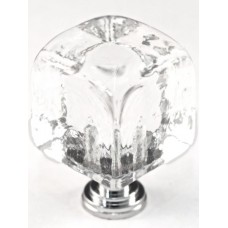 "Large Clear Cube Cabinet Knob (1-1/4"") (CLC) by Cal Crystal"