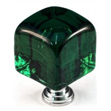 "Large Green Cube Cabinet Knob (1-1/4"") (CLG) by Cal Crystal"