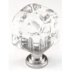 "Small Clear Cube Cabinet Knob (1"") (CSC) by Cal Crystal"