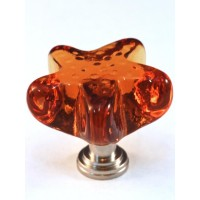 "Amber Starfish Cabinet Knob (1-3/4"") (S4A) by Cal Crystal"