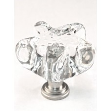 "Clear Starfish Cabinet Knob (1-3/4"") (S4C) by Cal Crystal"