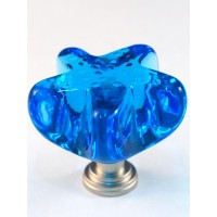 "Marine Blue Starfish Cabinet Knob (1-3/4"") (S4M) by Cal Crystal"