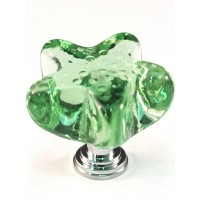 "Seafoam Green Starfish Cabinet Knob (1-3/4"") (S4S) by Cal Crystal"