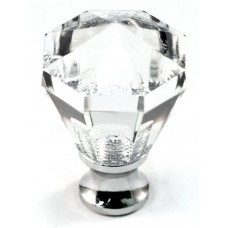 """Octagon Cabinet Knob (1-1/16"""") (M13/27) by Cal Crystal"""