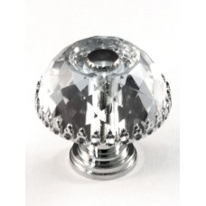 "Framed Round Cabinet Knob (1-1/8"") (M30A) by Cal Crystal"