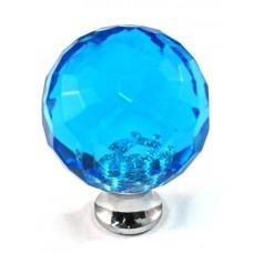 "Aqua Round Cabinet Knob (1-3/16"") (M30AQUA) by Cal Crystal"