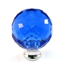 "Blue Round Cabinet Knob (1-3/16"") (M30BLUE) by Cal Crystal"