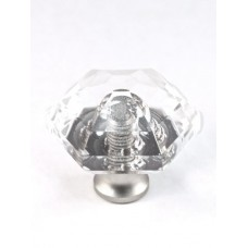 "Hexagon Cabinet Knob (1-1/8"") (M31) by Cal Crystal"