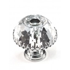 "Framed Round Cabinet Knob (1-1/2"") (M35A) by Cal Crystal"