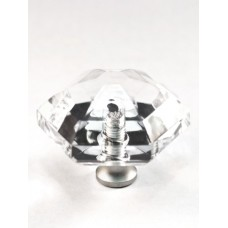 "Hexagon Cabinet Knob (1-1/2"") (M41) by Cal Crystal"