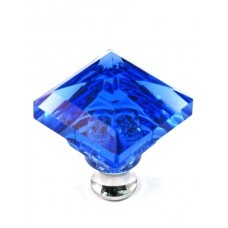 "Blue Square Cabinet Knob (1-1/4"") (M995BLUE) by Cal Crystal"