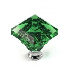 "Green Square Cabinet Knob (1-1/4"") (M995GREEN) by Cal Crystal"