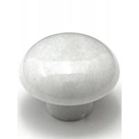 "White Mushroom Cabinet Knob (1-5/8"") (M-1) by Cal Crystal"