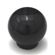 "Black Round Ball Cabinet Knob (1-1/4"") (RB-1) by Cal Crystal"
