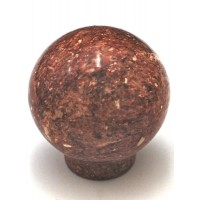 "Red Round Ball Cabinet Knob (1-1/2"") (RB-2) by Cal Crystal"