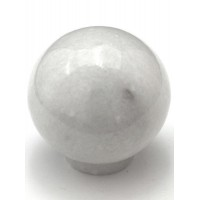 "White Round Ball Cabinet Knob (1-1/2"") (RB-2) by Cal Crystal"