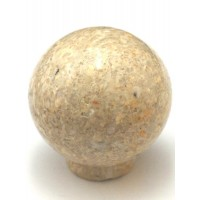 """Yellow Round Ball Cabinet Knob (1-1/2"""") (RB-2) by Cal Crystal"""