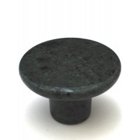 "Green Round Cabinet Knob (1-1/2"") (RN-1) by Cal Crystal"