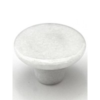"White Round Cabinet Knob (1-1/2"") (RN-1) by Cal Crystal"