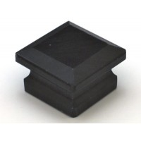"Black Square Cabinet Knob (1-5/8"") (S-3) by Cal Crystal"