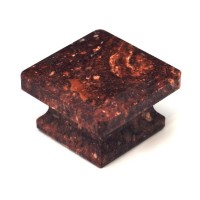 "Red Square Cabinet Knob (1-5/8"") (S-3) by Cal Crystal"